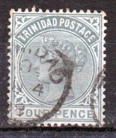 Trinidad 1883 Victoria Single 4d Stamp From The Definitive Set In Fine Used - Trinidad & Tobago (...-1961)