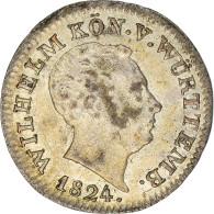 Monnaie, Etats Allemands, WURTTEMBERG, Wilhelm I, 3 Kreuzer, Groschen, 1824 - Sonstige