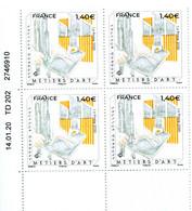 """FRANCE 2020 Y&T N° 5382: """"Métiers D'art"""" Facteur D'orgues - Coin Daté 14.01.20 - 2010-...."""