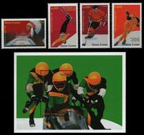 Sierra Leone 1997 - Mi-Nr. 2824-2827 & Block 362 ** - MNH - Olympia Nagano - Sierra Leone (1961-...)
