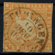 Altdeutschland Württemberg 7 A 3 Kreuzer Schön Lesbarer K2 Tübingen 10.12.1857 - Wuerttemberg