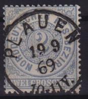 Altdeutschland Norddeutscher Bund 17 Vollstempel K1 Plauen 19.9.1869 - Norddeutscher Postbezirk