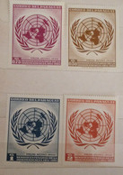 4 MNH Stamps United Nations Paraguay - Paraguay