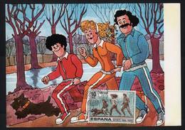 Sport Pour Tous Espagne 16 Mars 1979 Carte FDC - Atletica