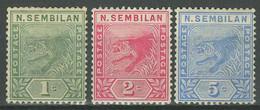 Malaya Negri Sembilan 1891-94 ☀ˈTīɡər - Complete Set ☀ Unused (*) - Negri Sembilan