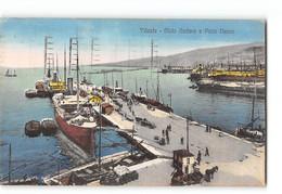 CPA Italie Trieste Molo Audace E Porto Nuovo - Trieste