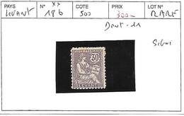 LEVANT N° 18b ** DENT 11 SIGNE - Unused Stamps