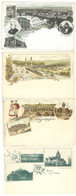4 Cpa Allemagne, Gruss - Bayreuth, Kahla, Stuttgart, Cannstatt    ( S.7556 ) - Vari