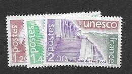 1980 MNH Unesco,  Mi 21-23 Postfris** - Ungebraucht
