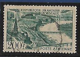 FRANCE  Poste Aérienne:vue Stylisées Des Grandes Villes:Bordeaux   N°25 Année 1949 - 1927-1959 Afgestempeld