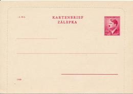 BÖHMEN+MÄHREN  - 1942  ,  Kartenbrief ,  Letter Card   -   Michel  K4 IIb - Briefe U. Dokumente