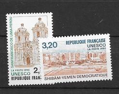1990 MNH Unesco,  Mi 41-42 Postfris** - Ungebraucht