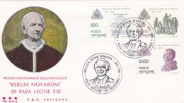 Enveloppe Cover FDC Rerum Novarum Di Papa Leone XIII - FDC