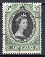 Tristan Da Cunha 1953 Coronation, Used, SG 13 - Tristan Da Cunha