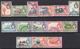 Tristan Da Cunha 1954 Definitives Set Of 14, Used, SG 14/27 - Tristan Da Cunha
