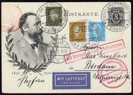 Deutsches Reich  - Schleuderflug 1931, Ganzsache Mit ZuF - Briefe U. Dokumente