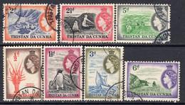 Tristan Da Cunha 1954 Definitives Group Of 7 Value To 6d, Used, SG 14/23 - Tristan Da Cunha