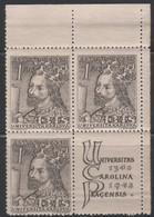 Czechoslovakia - #346-49(4) - MNH Block 4 - Unused Stamps
