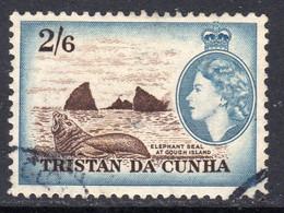 Tristan Da Cunha 1954 Definitives 2/6d Elephant Seal Value, Used, SG 25 - Tristan Da Cunha