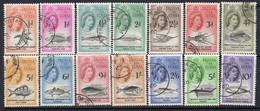 Tristan Da Cunha 1960 Marine Life Definitives Set Of 14, Used, SG 28/41 - Tristan Da Cunha