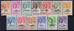 Tristan Da Cunha 1961 Marine Life Rand Currency Definitives Set Of 13, Used, SG 42/54 - Tristan Da Cunha