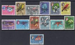 Tristan Da Cunha 1963 Tristan Resettlement Overprints Set Of 13, Used, SG 55/67 - Tristan Da Cunha
