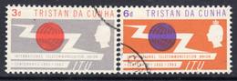 Tristan Da Cunha 1965 ITU Centenary Set Of 2, Used, SG 85/6 - Tristan Da Cunha