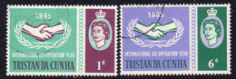 Tristan Da Cunha 1965 International Co-operation Year ICY Set Of 2, Used, SG 87/8 - Tristan Da Cunha