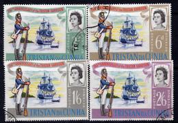 Tristan Da Cunha 1966 150th Anniversary Of Garrison Ships Set Of 4, Used, SG 93/6 - Tristan Da Cunha