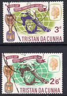 Tristan Da Cunha 1966 Football World Cup Set Of 2, Used, SG 97/8 - Tristan Da Cunha