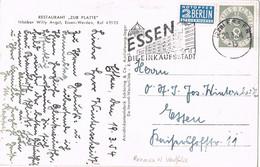 42117. Postal ESSEN (Alemania Federal) 1954. Stamp NOTOPFER Berlin - Briefe U. Dokumente