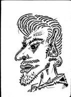 Johnny Hallyday Tableau Dessin Unique   Musique Rock Outsider Art Brut Peculiar Art Singulier Art Tribal Illustrateur - Disegni