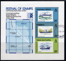 Tristan Da Cunha 1976 Festival Of Stamps MS, Used, SG 204/6 - Tristan Da Cunha