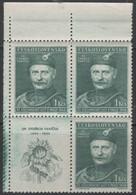 Czechoslovakia - #351-54(4) - MNH Block 4 - Unused Stamps