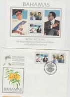 BAHAMAS LOT 2  FDC Diff  + 1BF  - ROYAL  WEDDING 1981 CHARLES + DIANA    Réf  GF - Other