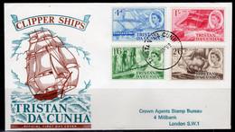 Tristan Da Cunha 1969 Clipper Ships FDC, Used, SG 121/4 - Tristan Da Cunha