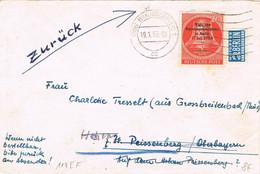 42118. Carta BRAUNSCHWEIG (Alemania Berlin Y Federal) 1955. Stamp NOTOPFER Berlin, WAHL. Zuruck - Briefe U. Dokumente