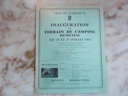 SCHIRMECK - Inauguration Du Terrain De Camping En 1954 - Programmi