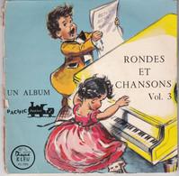 45 Tours Germaine Bouret 12 Dessins Rondes Et Chansons Chantées Par Les Compagnons De La Joie Volume 3  Très Rare - Bambini