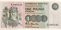 Scotland 1 Pound, P-211d (9.11.1988) - UNC - 1 Pound