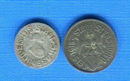 Strasbourg  10  Pf +  5  Pf - Monetari / Di Necessità