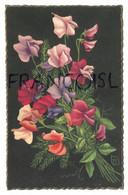 Bouquet De Pois De Senteur. Signée T.R.Z. (?) - Fiori