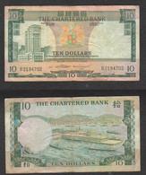 HONG KONG TEN DOLLARS 1977 - 10 $ Pic 74 The Chartered Bank - Hongkong