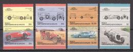 St Vincent Grenadines (Bequia) 1986 Mi 152-159 MNH CARS AUTO (*) - Automobili