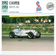 Grande Bretagne 1952-1953 - Cooper Bristol MK1 - Auto's