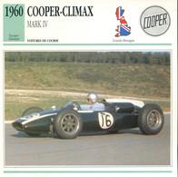 Grande Bretagne 1960 - Cooper-Climax Mark IV - Auto's