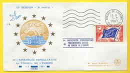 SERVICE - CONSEIL DE L EUROPE  / 1961  # 20 SUR LETTRE / ASSEMBLEE CONSULTATIVE (ref 344) - Briefe U. Dokumente