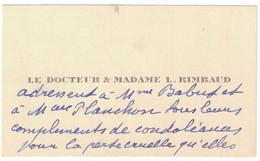 LE DOCTEUR & MADAME L. RIMBAUD - Visiting Cards