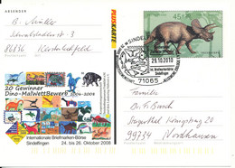 Germany Postal Stationery Post Card With Special Postmark Sindelfingen 29-10-2010 - Postkarten - Gebraucht