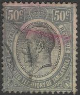 Tanganyika. 1927-31 KGV. 50c Used. SG 100 - Tanganyika (...-1932)